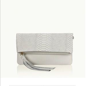 GiGi New York Bags - Gigi NEW YORK Stella FOLD OVER Clutch WHITE PYTHON